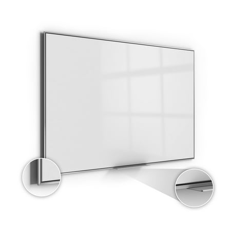 SIO23AM Ghent Simplicity Acrylite Markerboard Magnetic Whiteboard with Aluminum Frame, 2'H x 3'W