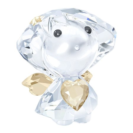 Swarovski Crystal Christmas Figurine ANGEL WITH GOLDEN HEART #5135868 ()