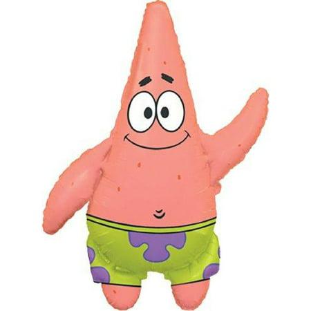 Spongebob Squarepants Patrick Jumbo Mylar Balloon Supershape (BLUE/GREEN, 1), DOUBLE SIDED SELF SEALING By Anagram