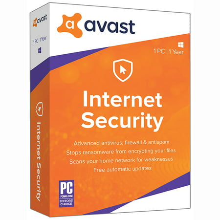 Avast Internet Security 2018, 1 PC, 1 Year
