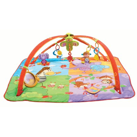 Tiny Love Gymini Move and Play Activity Gym Play Mat, Animal Friends ()