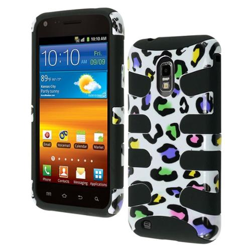 Insten Colorful Leopard/Black Fishbone Phone Case for SAMSUNG: D710 (Epic 4G Touch), R760 (Galaxy S II), Galaxy S II 4G