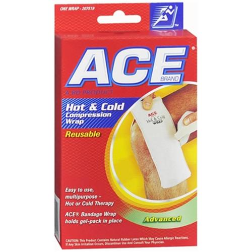 ACE Hot and Cold Compression Wrap Reusable 1 Each (Pack of 6)