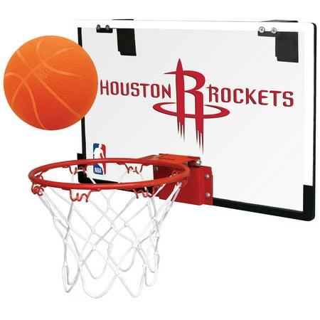 Rawlings NBA Game On Basketball Hoop Set, Houston Rockets