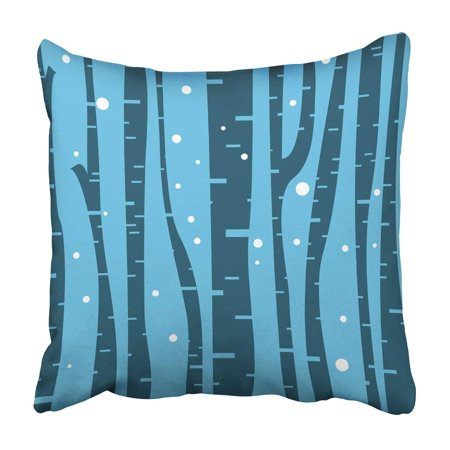 BPBOP Black Abstract Birch Tree With For Nature Design Blue Artistic Bark Beautiful Branch Pillowcase 20x20 inch ()