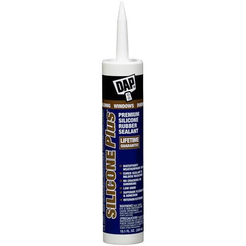 Dap 08780 10.1 oz White Silicone Plus Premium Silicone Rubber Sealant