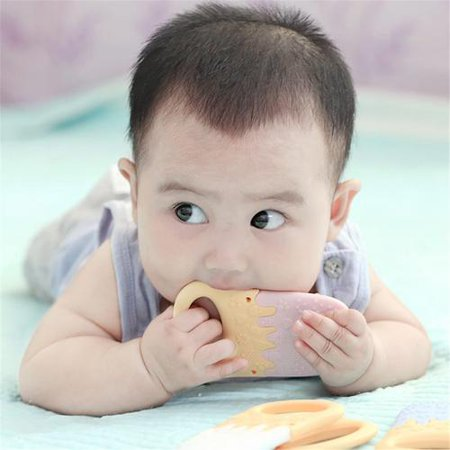 Baby Teether Silicone Pacify Comfort Bite Teether Safe BPA Free Infants Teething Toys Ice Cream Shape Gum For Dental