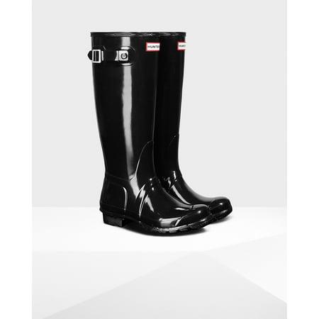 Hunter Women's Original Tall Rain Boots (Size 7/ Black) ()