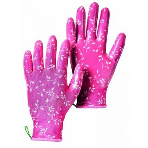 Hestra Gloves 233388 Form Fitting Nitrile-Dipped Gloves, Pink - Medium - Size 8