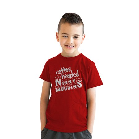 Youth Cotton Headed Ninny Muggins Funny Christmas Movie T shirt