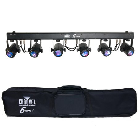 CHAUVET 6SPOT 6 Head RGB LED DJ Dance Effect DMX Stage Spot Light System + Bag