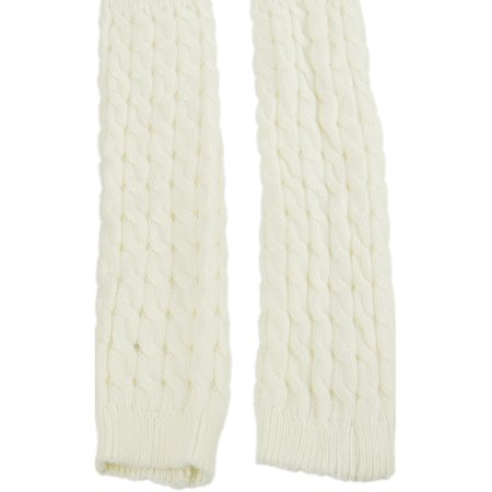 Exotic Identity Leg Warmers Cable Knit Vail Cold Weather Wear for Women - M - Cream - Leg Warmers 80s