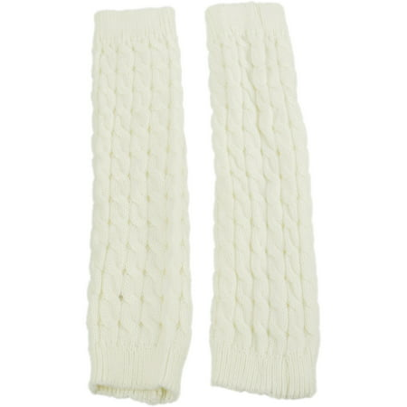 Exotic Identity Leg Warmers Cable Knit Vail Cold Weather Wear for Women - M - Cream](Cheap Furry Leg Warmers)