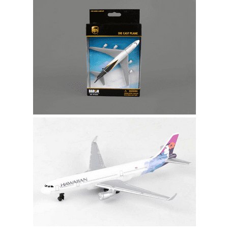 Ups  Hawaiian Airlines Diecast Airplane Package   Two 5 5   Diecast Model Planes