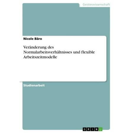 Veränderung des Normalarbeitsverhältnisses und flexible Arbeitszeitmodelle - eBook