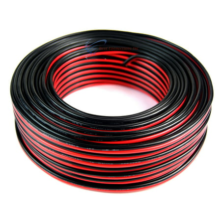 Audiopipe 100' ft 16 Gauge Red Black Stranded 2 Conductor Speaker Wire for Car Home Audio