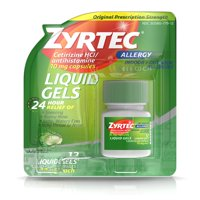 Zyrtec 24 Hour Allergy Relief Antihistamine Capsules, 12 ct