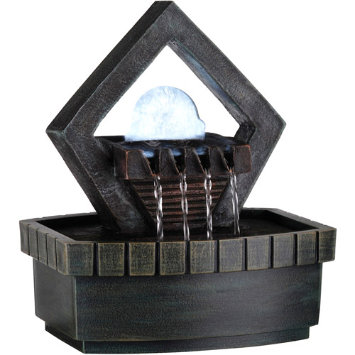 "ORE International 9.5"" Meditation Fountain with LED Light"