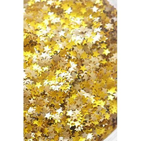 Gold Metallic Glitter Stars  Vegan  Metallic Gold Stars Edible Shimmer Glitter 5 Grams For Cupcakes Cakes And Cookies