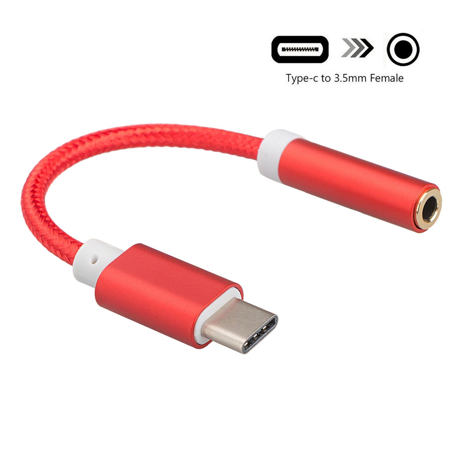 USB C to 3.5mm, EEEKit Type C to 3.5mm Audio Aux Headphone Jack Cable Adapter Stereo Audio Female Headphone Aux Connector for Motorola Moto Z, Xiaomi 6, Nubia Z17 and More