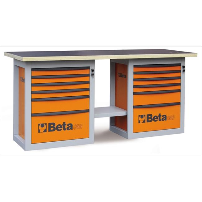 Beta Tools 059000002 C59 B-O-Endurance Workbench 6 Drawers Orange by Beta Tools