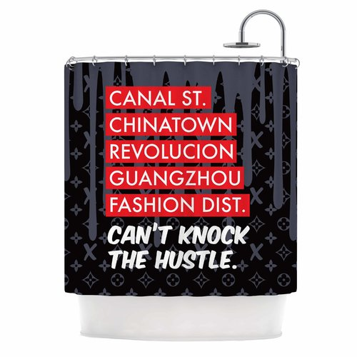 East Urban Home 'Can't Knock the Hustle' Urban Shower Curtain