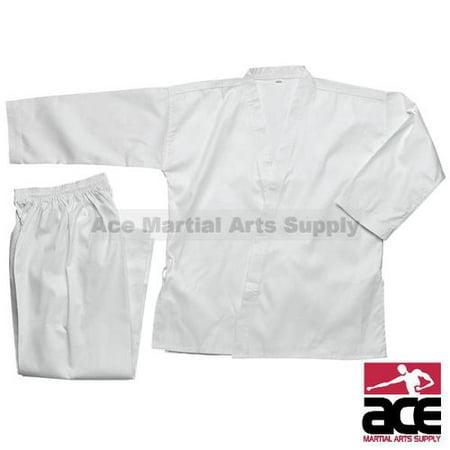Middleweight 7 oz Student Karate Uniform, White size 6 10 Ounce Karate Uniform