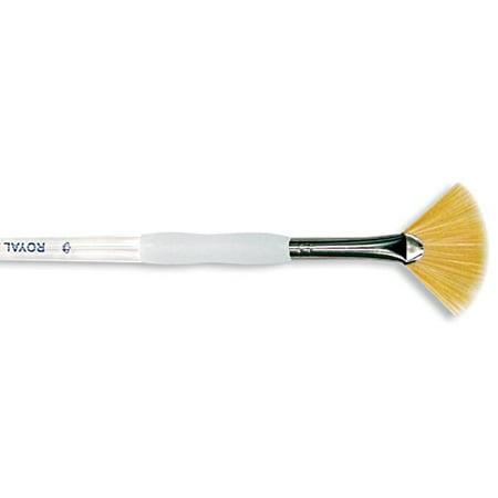 Soft-Grip Golden Taklon Fan Brush-Size 2, Royal & Langnickel Soft Grip Brush By ROYAL
