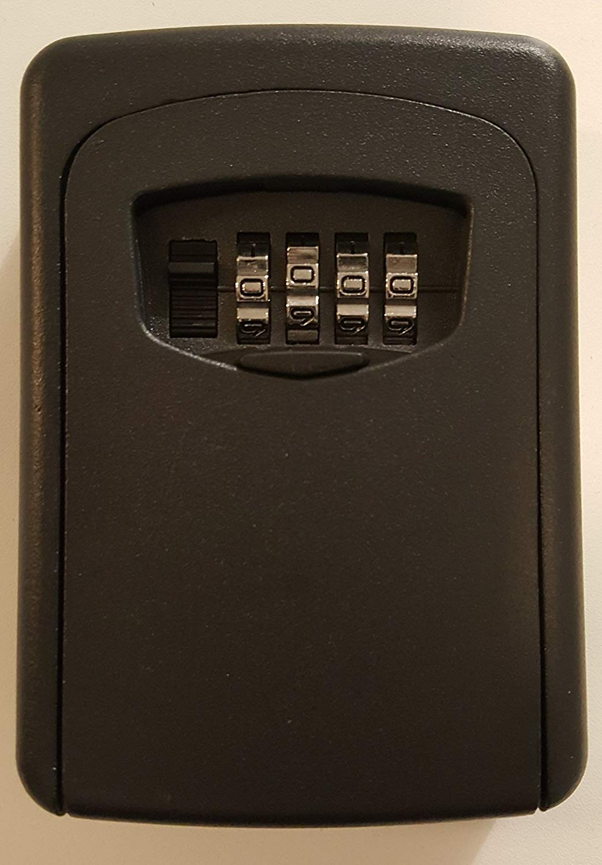 Key Storage Lock Box 4-Digit Combination Lockbox Wall Mount Resettable Code