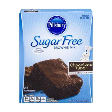 (2 Pack) Pillsbury Sugar Free Chocolate Fudge Brownie Mix, 12.35 oz - Halloween Desserts Chocolate