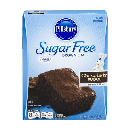 (2 Pack) Pillsbury Sugar Free Chocolate Fudge Brownie Mix, 12.35 oz - Halloween Chocolate Brownies