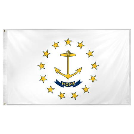 Rhode Island flag 3 x 5 feet Super Knit polyester