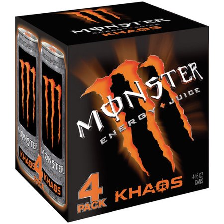 Monster Khaos Energy + Juice Drink, 16 fl oz, 4 count