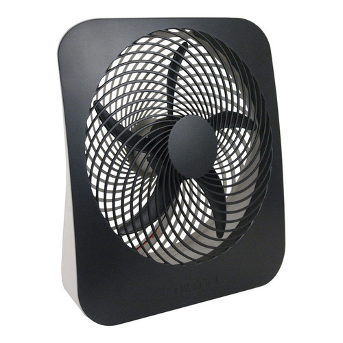 "O2COOL 10"" Portable 2-Speed Fan with AC Adapter, Model #FD10002A, Black"