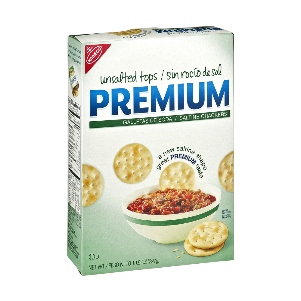 Nabisco Premium Unsalted Tops Saltine Crackers, 10.5 oz