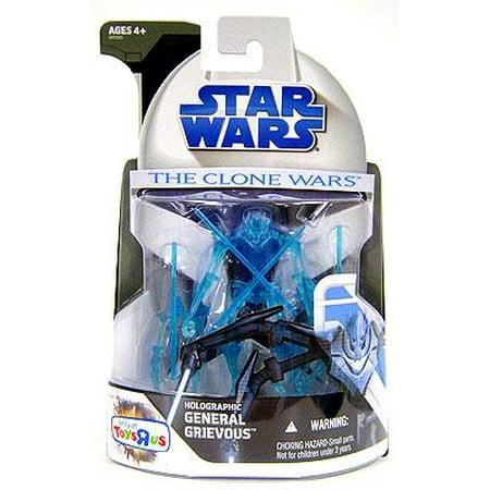 Star Wars Clone Wars 2008 Holographic General Grievous Action Figure - Star Wars General Grievous Mask