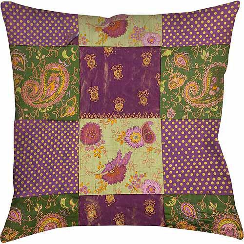 IDG Purple Paisleys and Dots Indoor Pillow