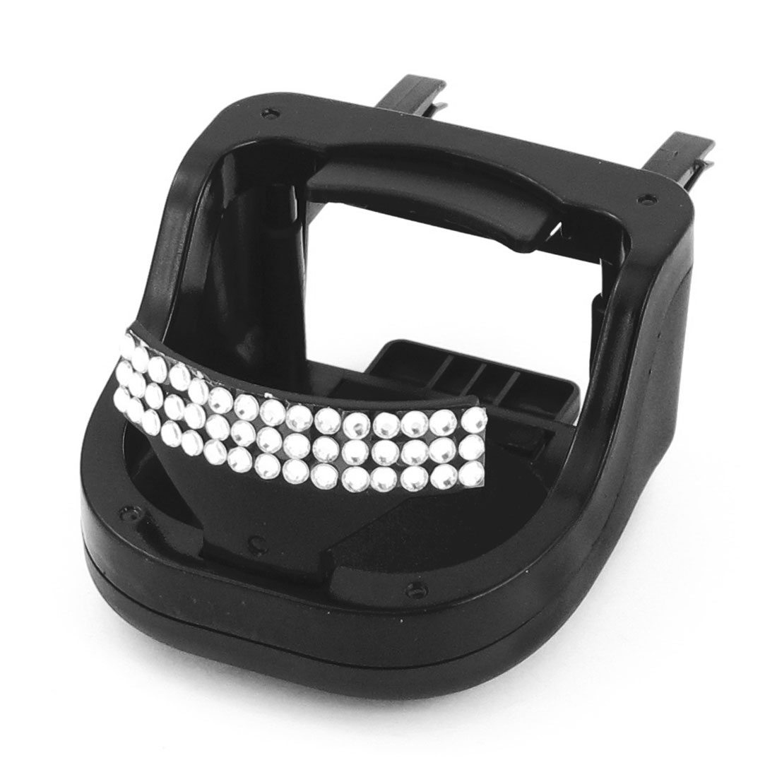 Auto Car Black Glittery Rhinestone Ornament Bottle Drink Cup Holder