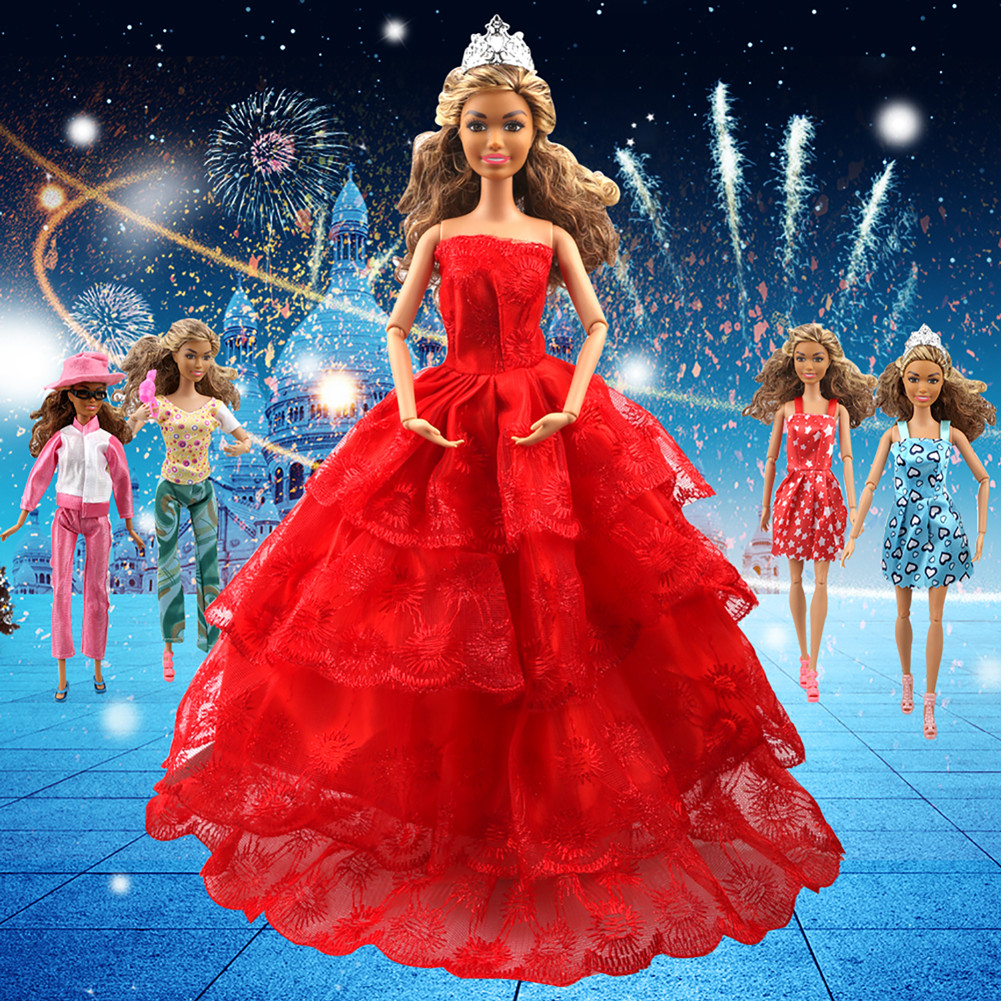 Tatuer 110PCS Barbie Doll Clothes and Accessories Include-10 PCS Clothes Party