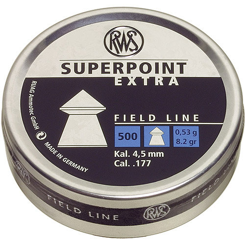 RWS Superpoint Extra .177 Pellets, 500 Count