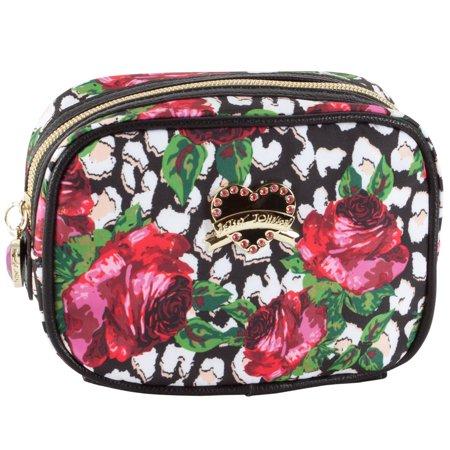 - Betsey Johnson Roses Over Cheetah Cub Singular Cosmetic Case - Multi
