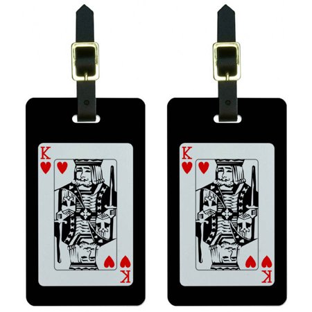 Graphics and More Playing Cards King of Hearts Poker Luggage Tags Suitcase Carry-On ID, Set of 2 ()