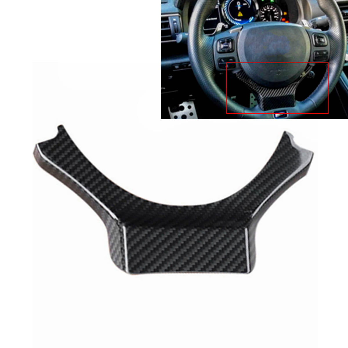 RJJX Fit For Lexus NX 2015-2019 1PC Carbon Fiber ABS Car Interior Steering Wheel Cover Trim Moldings Car Styling Accessories Color Name : Wood