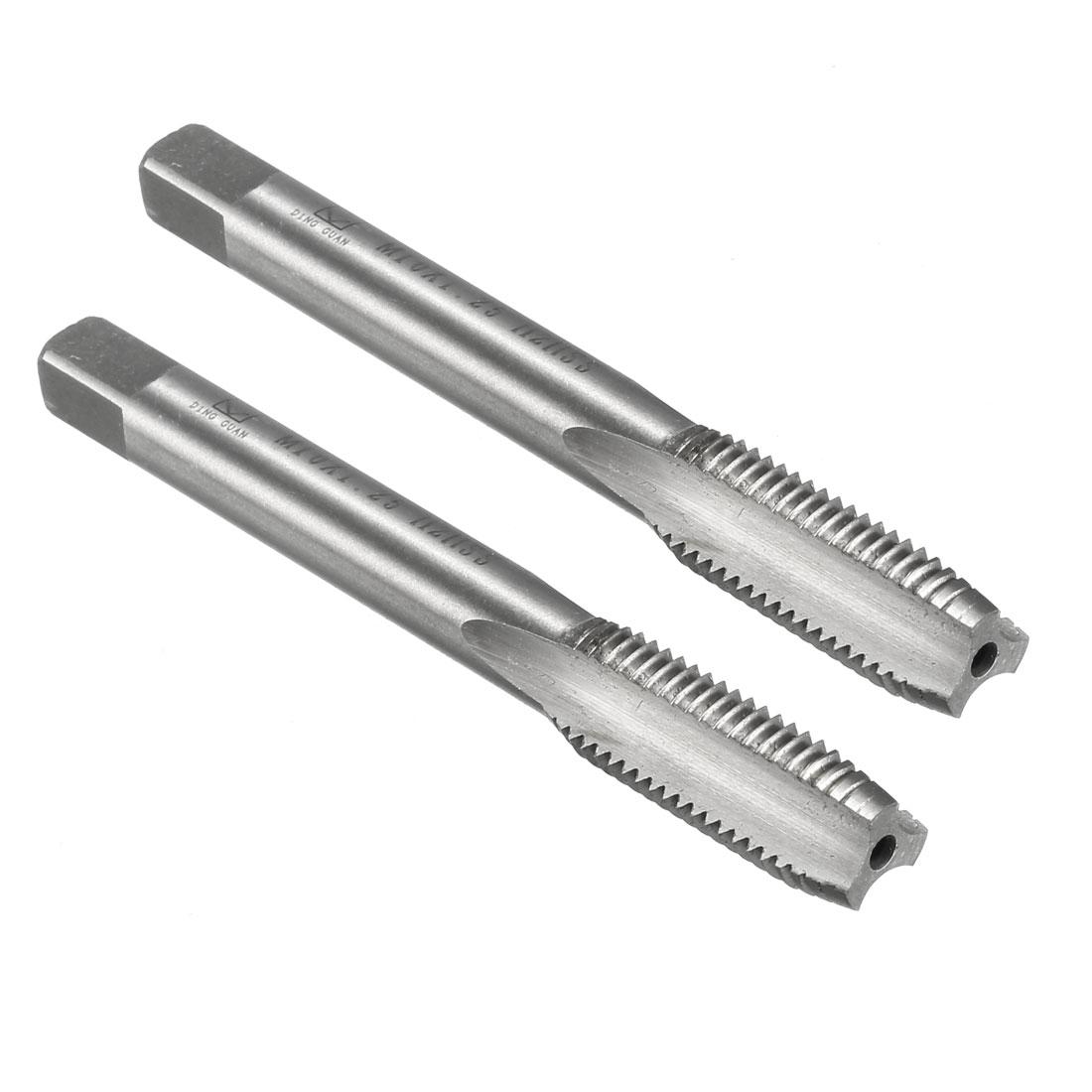 2pcs Metric Taps M10x1.25mm Pitch Thread Plug Tap HSS for Electric Drill - image 5 de 5