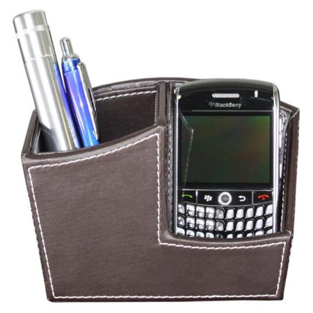 Brown Book Holder (Hipce SMP-01 BR 2-in-1 Cellphone Display & Pen Holder, Dark)