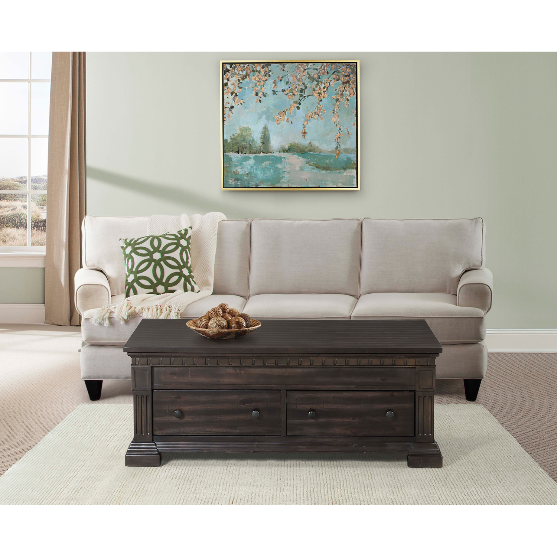 Picket House Furnishings Steele Lift Top Coffee Table, Gray Oak