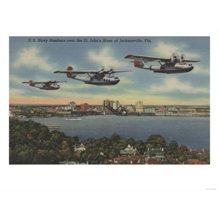 Jacksonville, FL - Navy Bombers over St. John's Rv. Print Wall Art By Lantern Press](Party Shop Jacksonville Fl)