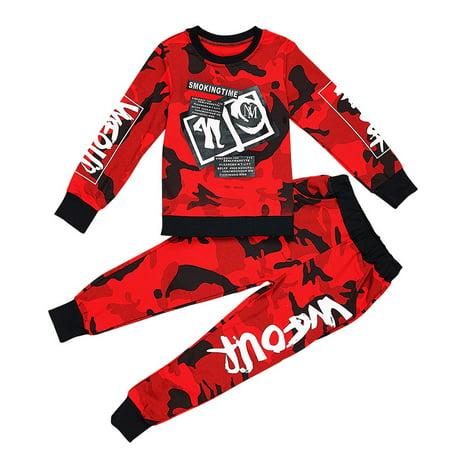 Codream Kids Sport Suits Boys Hip Hop Dance Sets New Fashion Children Clothing Set 3-15Yrs Boys Teens Hoodie Shirt Tops Pants
