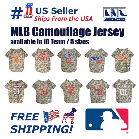 Pet Dog Camo Tank Top (Pets First MLB Cleveland Indians Camouflage Jersey For Dogs, Pet Shirt For Hunting, Hosting a Party, or Showing off your Sports Team, Large)
