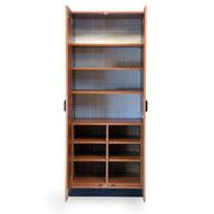 Hausmann 8256 StoreWall Storage System-Cabinet-Wild Cherry